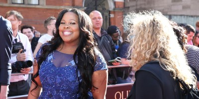 Amber Riley on the Olivier Awards 2017 with Mastercard red carpet (Photo: Darren Bell)