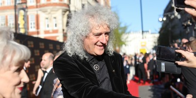 Brian May on the Olivier Awards 2017 with Mastercard red carpet (Photo: David Levene)