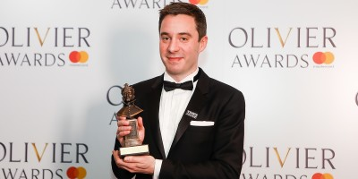 James Graham, winner of the Best New Comedy award for Labour of Love at the Olivier Awards 2018 with Mastercard