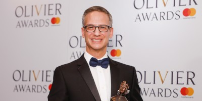 Nevin Steinberg, winner of the Delta Live Award for Best Sound Design for Hamilton at the Olivier Awards 2018 with Mastercard