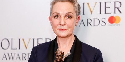 Vicki Mortimer, winner of the Best Costume Design award for Follies at the Olivier Awards 2018 with Mastercard