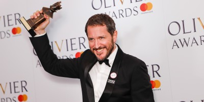 Bertie Carvel, winner of the Best Actor in a Supporting Role award for Ink at the Olivier Awards 2018 with Mastercard