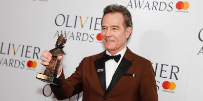 Bryan Cranston, winner of the Best Actor award for Network at the Olivier Awards 2018 with Mastercard