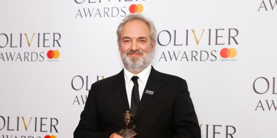 Sam Mendes, winner of the Best Director award for The Ferryman at the Olivier Awards 2018 with Mastercard