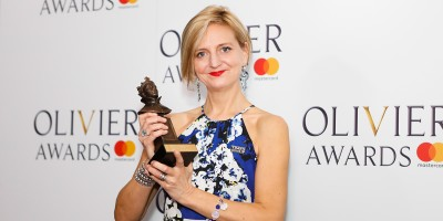 Marianne Elliott, winner of the Best Revival award for Angels in America at the Olivier Awards 2018 with Mastercard