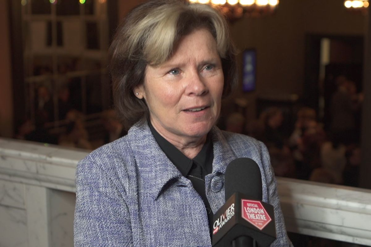 Imelda Staunton interviewed at the Olivier Awards 2016 with MasterCard nominations announcement