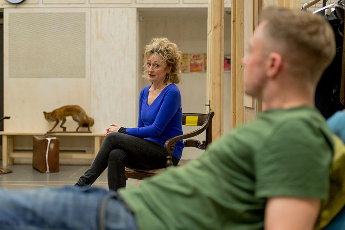 Sian Thomas in rehearsals for Welcome Home, Mr Fox (Photo: Manuel Harlan)