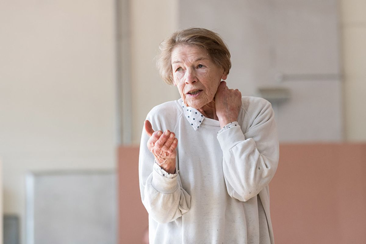 Glenda Jackson in rehearsal for King Lear at The Old Vic (Photo: Manuel Harlan)