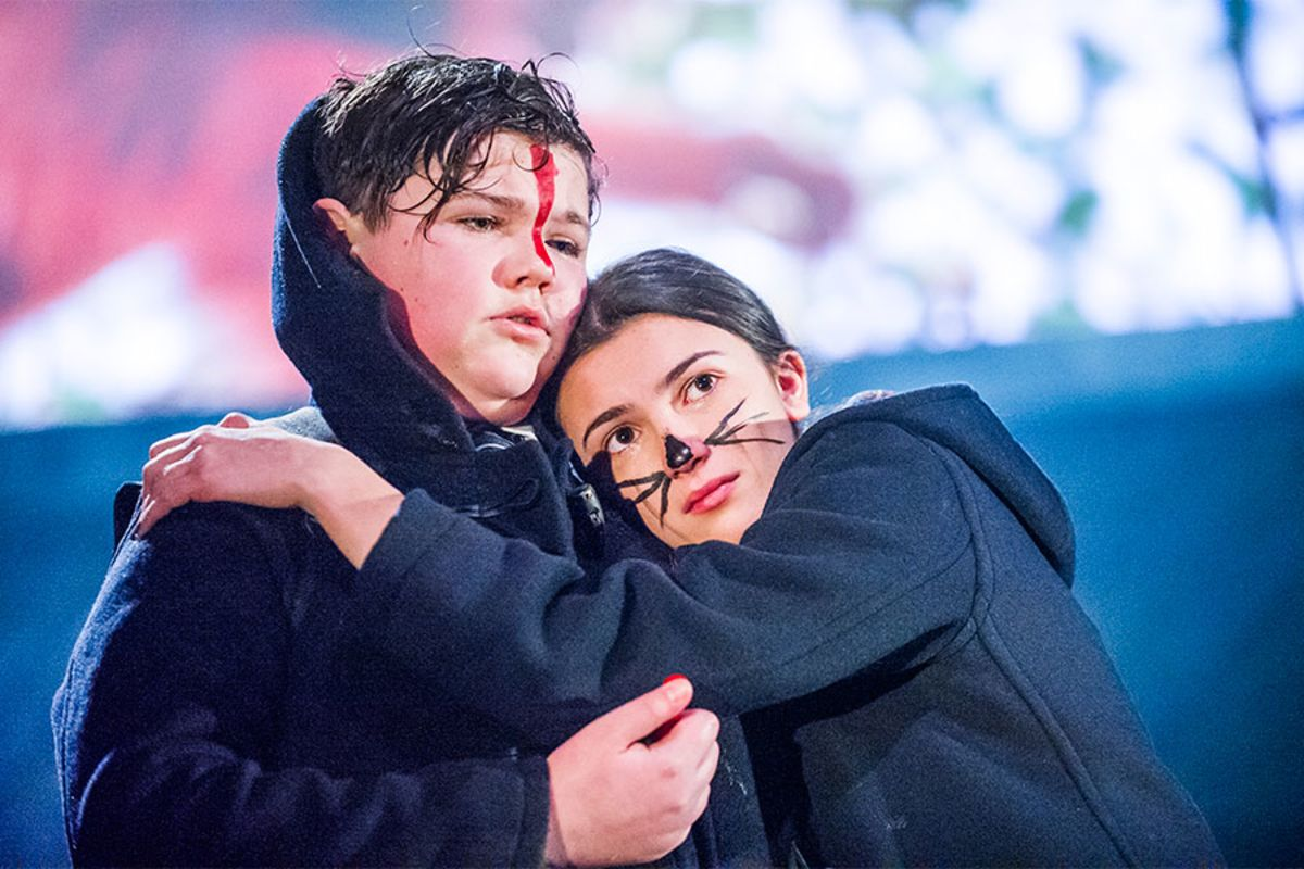 Max Gill and Sophia Decaro in Herons at the Lyric Hammersmith (Photo: Tristram Kenton)