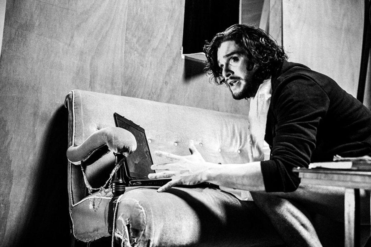 Kit Harington in rehearsal for Doctor Faustus (Photo: Matt Humphrey)