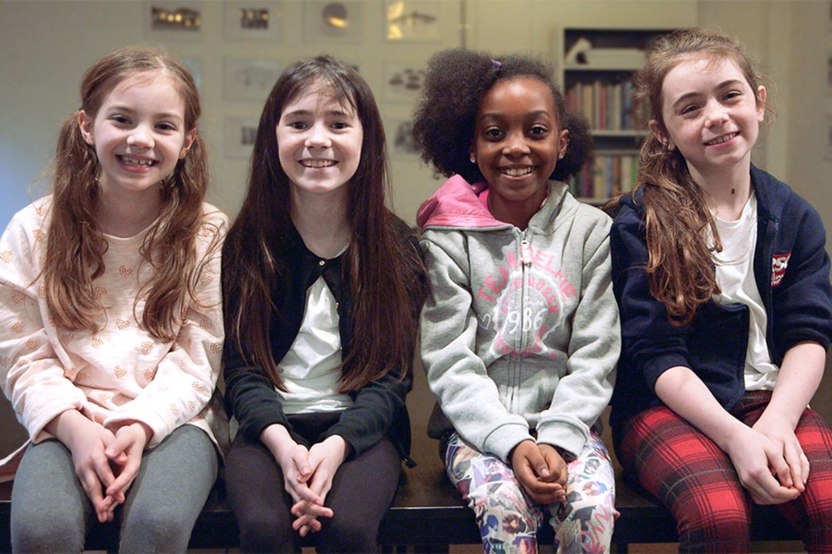 Matilda The Musical stars Emily-May Stephenson, Clara Read, Zaris-Angel Hator and Evie Hone