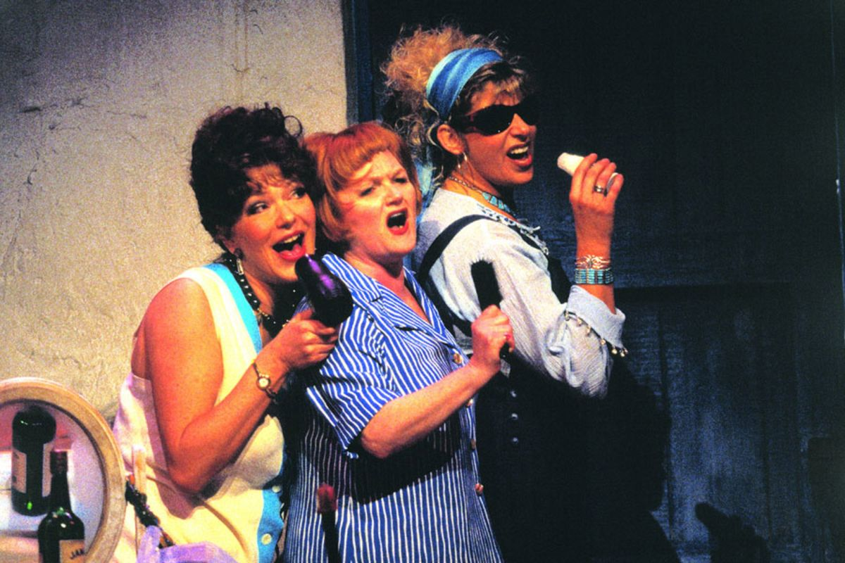 2000: Louise Gold, Lesley Nicol & Louise Plowright star in Mamma Mia! (Photo: Catherine Ashmore)