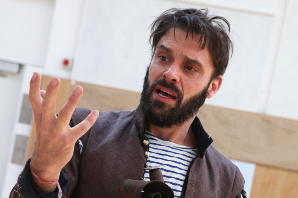 Joseph Millson in rehearsals for Macbeth at Shakespeare's Globe (photo: Ellie Kurttz)