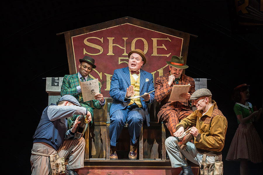 Gavin Spokes And The Cast Of Guys And Dolls, Playing At The Phoenix Theatre