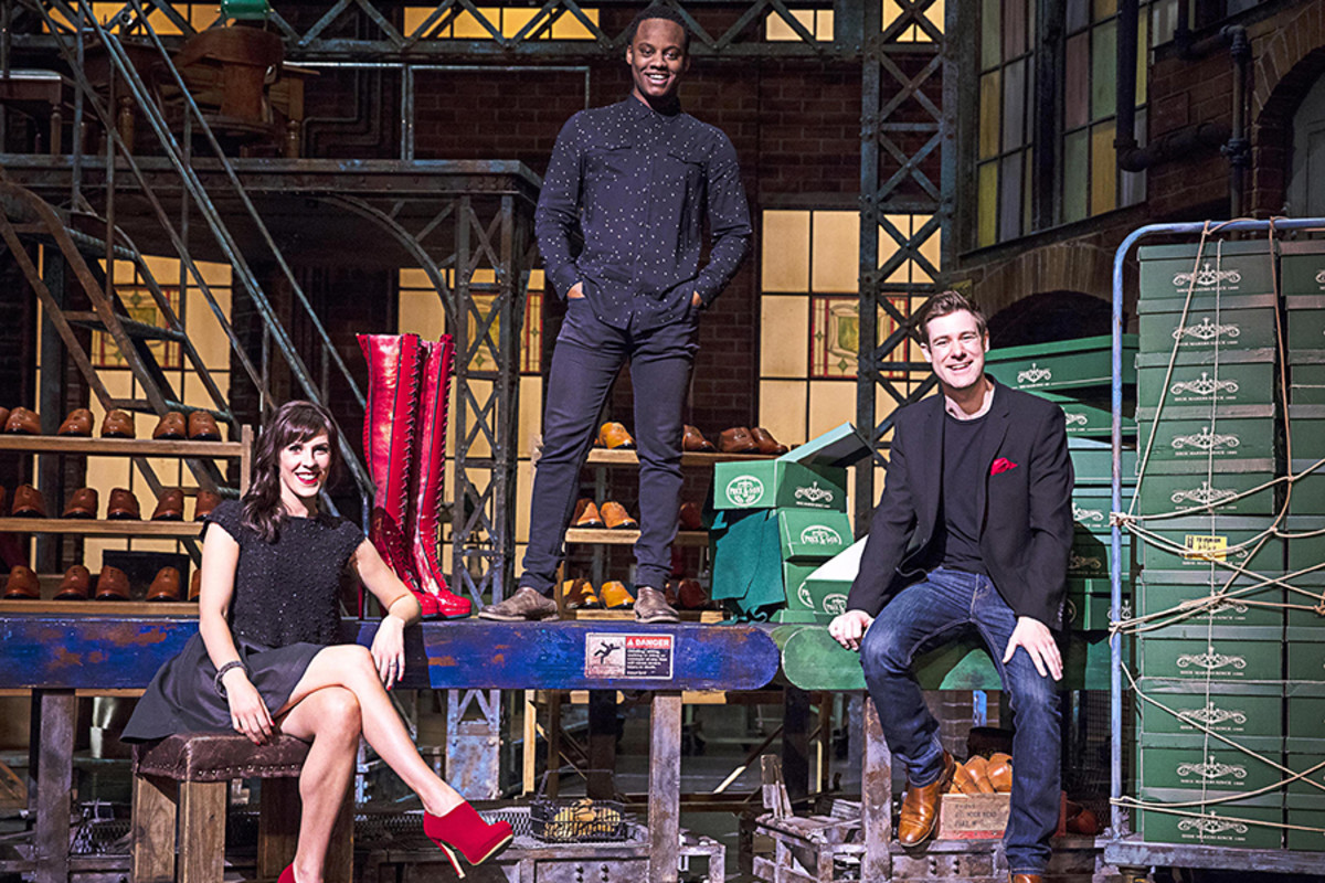 Verity Rushworth (Lauren), Simon-Anthony Rhoden (Lola) and David Hunter (Charlie Price) will star in Kinky Boots (Photo: Darren Bell)