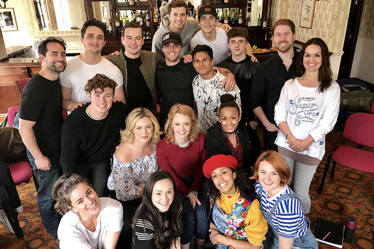 The first day of rehearsals for the new cast of Mamma Mia!