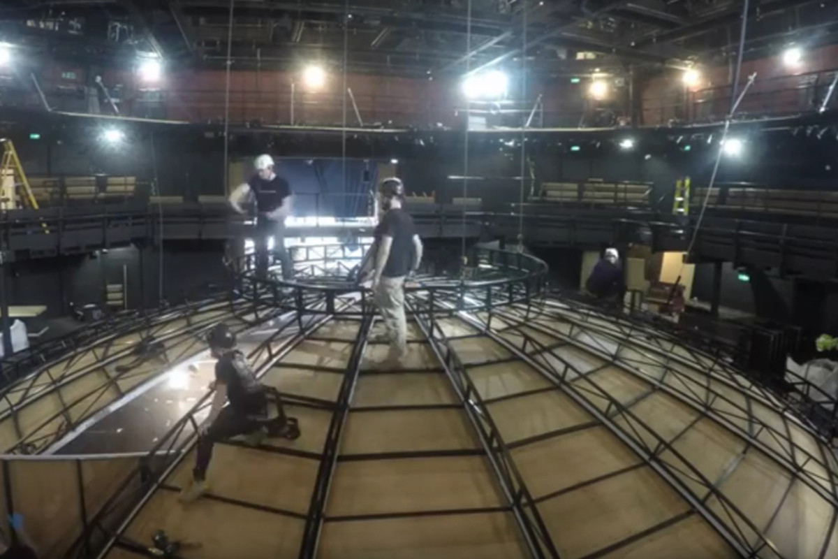 Life Of Galileo Set Build at the Young Vic