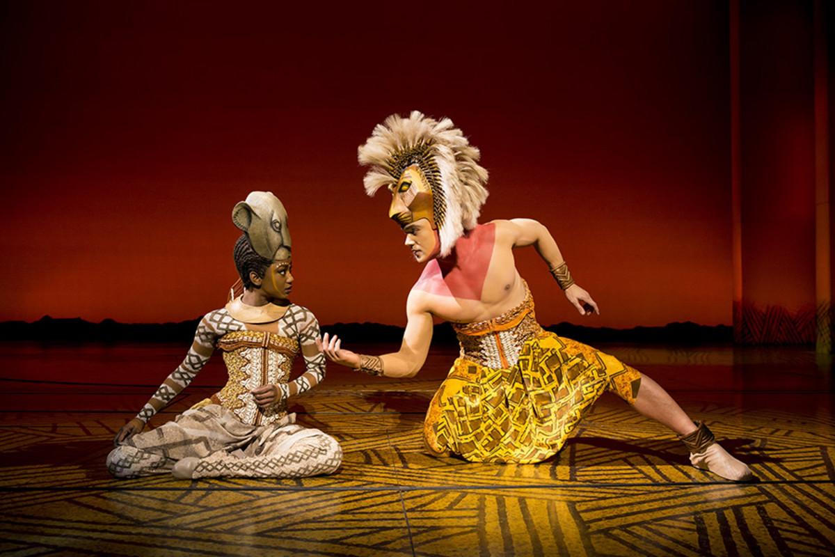 Janique Charles (Nala) and Nick Afoa (Simba) in Disney's The Lion King (Photo: Disney)
