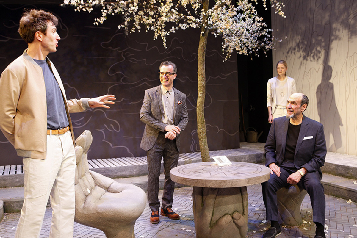Daniel Weyman, Jonathan Cullen, Naomi Frederick and F. Murray Abraham in The Mentor (Photo: Simon Annand)