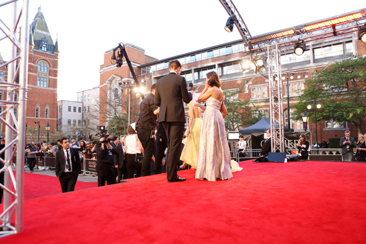 Guests on the Olivier Awards 2017 with Mastercard red carpet (Photo Pamela Raith)