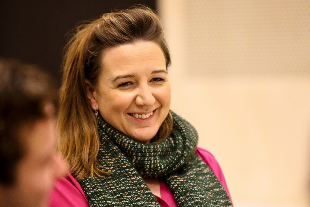 Director Josie Rourke in rehearsal for Saint Joan at the Donmar Warehouse (Photo: Jack Sain)