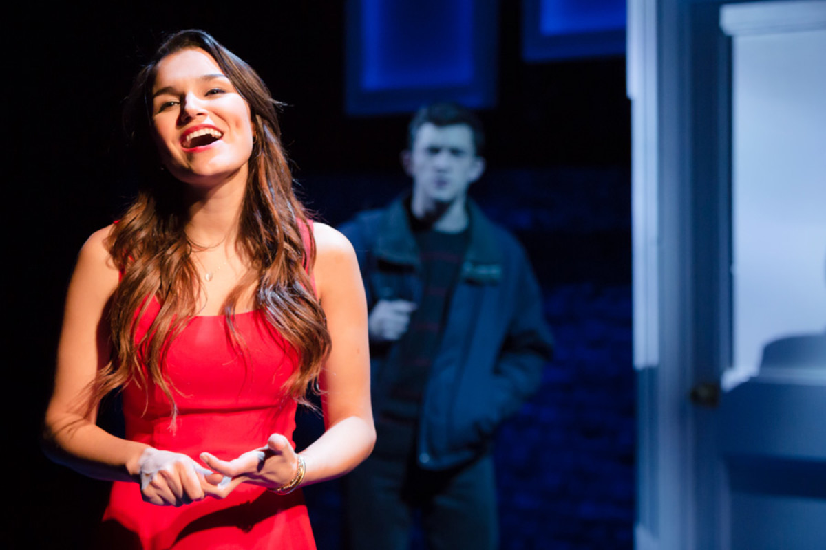 Samantha Barks and Jonathan Bailey in The Last Five Years (Photo: Scott Rylander)