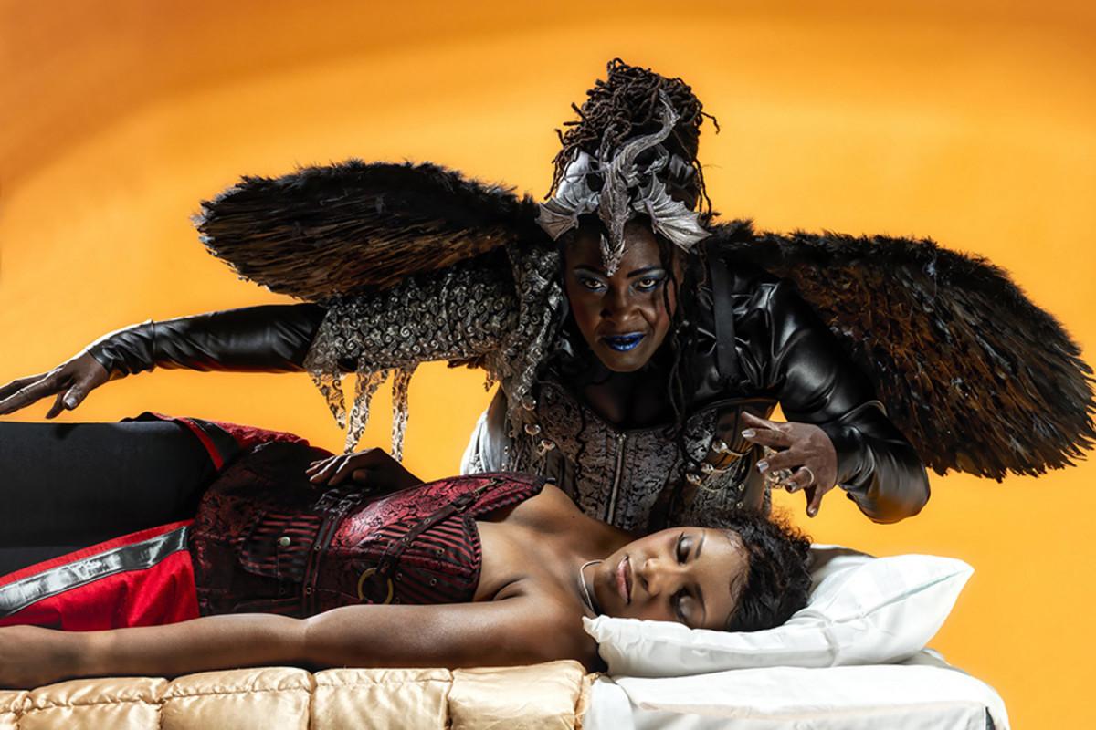 Alexia Khadime and Sharon D Clarke star in Sleeping Beauty 2016 at the Hackney Empire