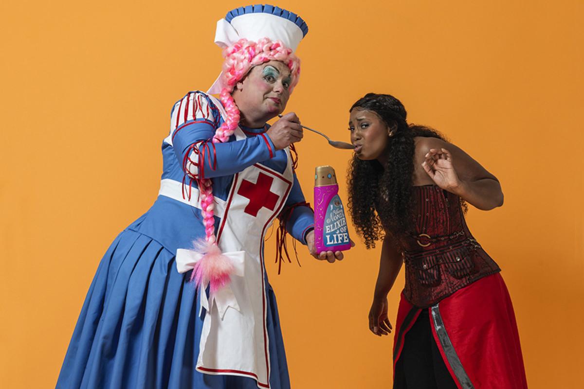Gavin Spokes and Alexia Khadime star in Sleeping Beauty 2016 at the Hackney Empire