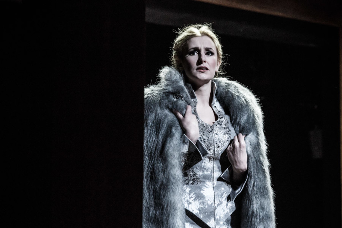 Laura Carmichael in The Maids (Photo: Marc Brenner)