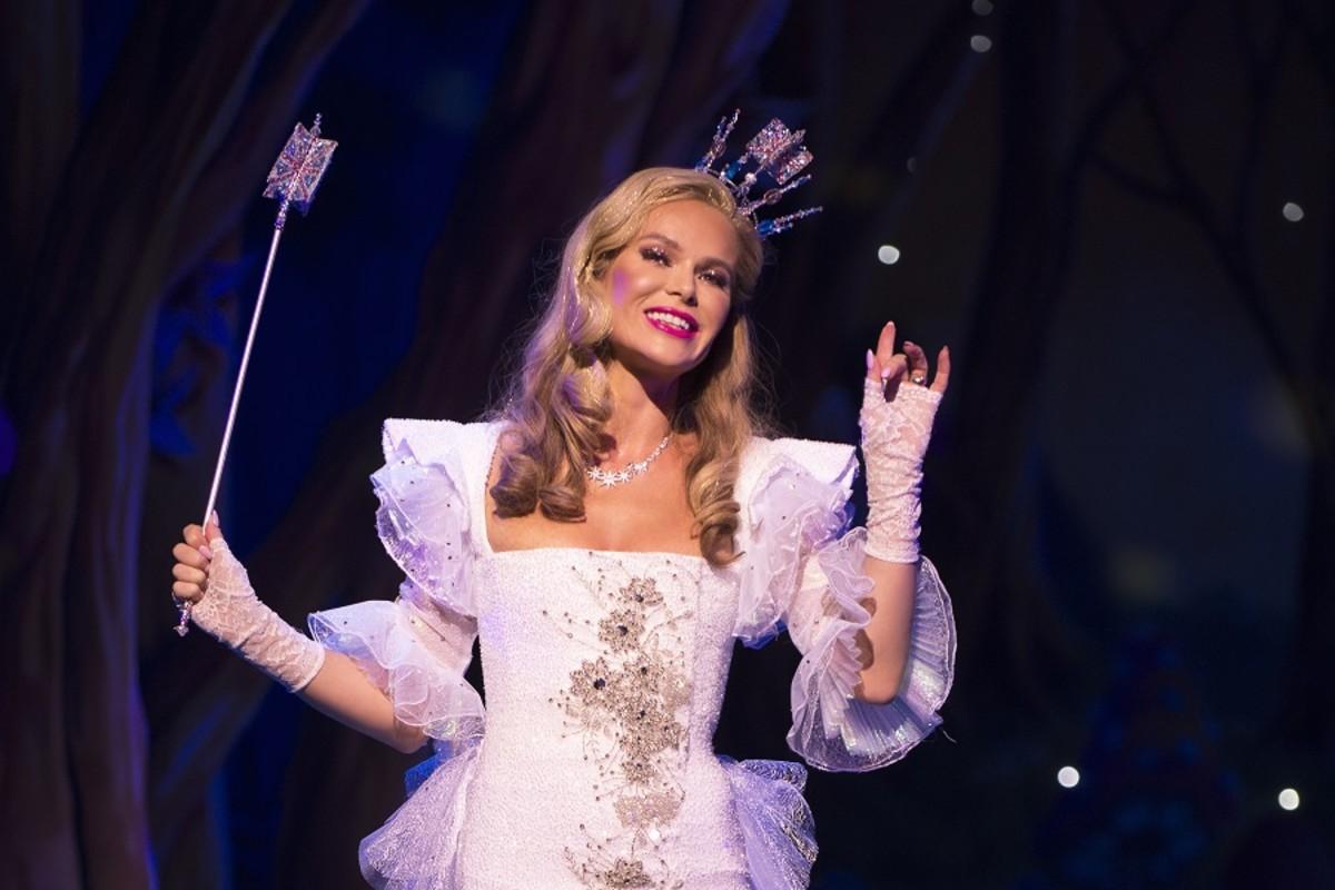 Amanda Holden (The Fairy Godmother) in Cinderella. Photographs by Paul Coltas & Steve Williams