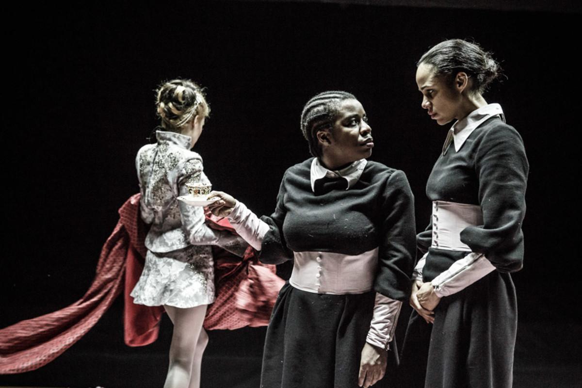 Laura Carmichael, Uzo Aduba and Zawe Ashton in The Maids (Photo: Marc Brenner)