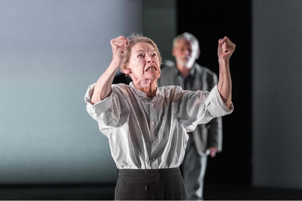 Glenda Jackson in King Lear at The Old Vic. Photos by Manuel Harlan