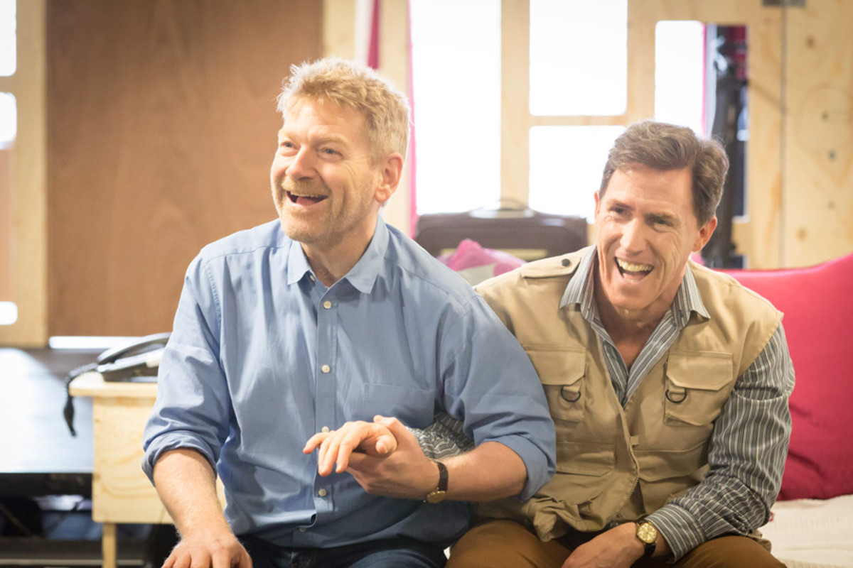 Kenneth Branagh and Rob Brydon in rehearsal for The Painkiller (Photo: Johan Persson)