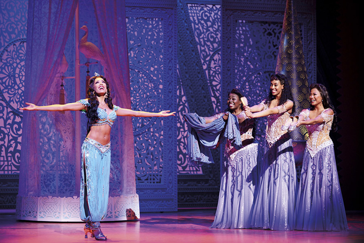 Jade Ewen and company in Disney's Aladdin, playing at the Prince Edward Theatre (Photo: Deen van Meer)