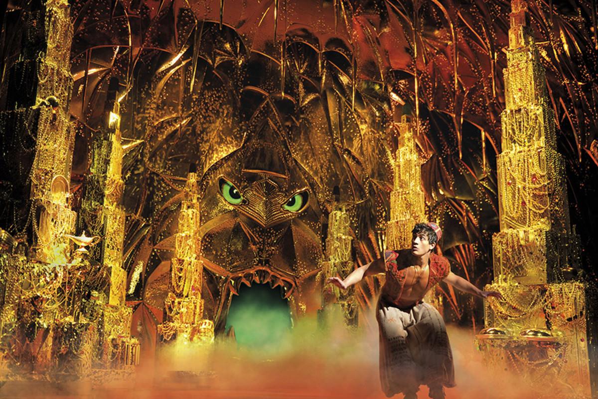 Dean John-Wilson in Disney's Aladdin, playing at the Prince Edward Theatre (Photo: Deen van Meer)