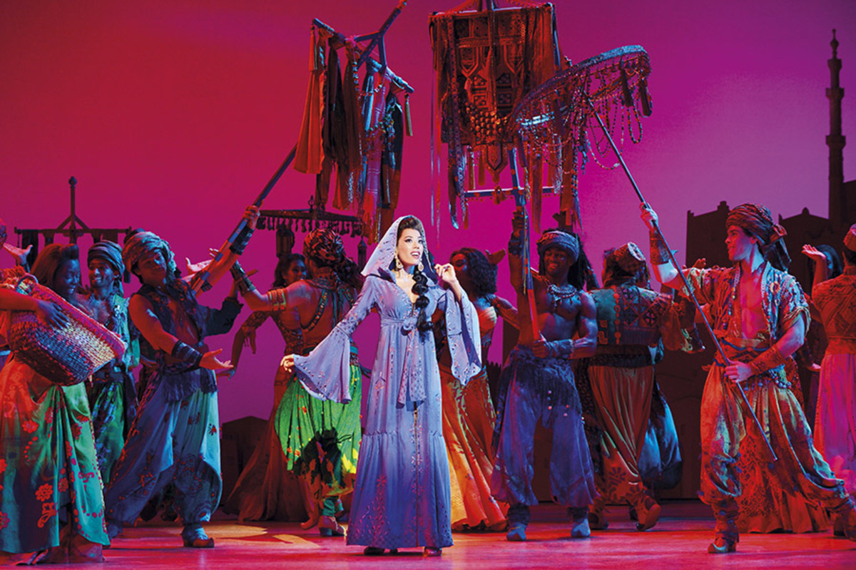 Jade Ewen in Disney's Aladdin, playing at the Prince Edward Theatre (Photo: Deen van Meer)