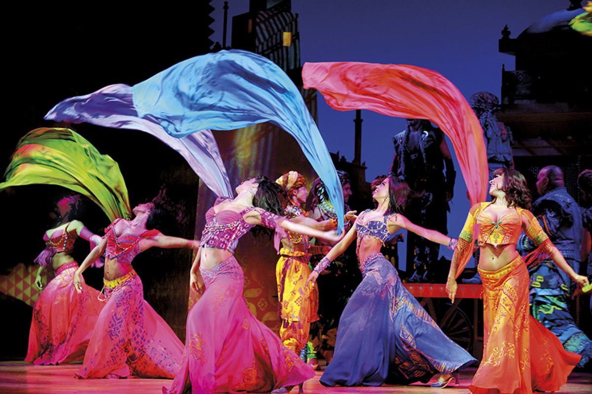 The company of Disney's Aladdin, playing at the Prince Edward Theatre (Photo: Deen van Meer)
