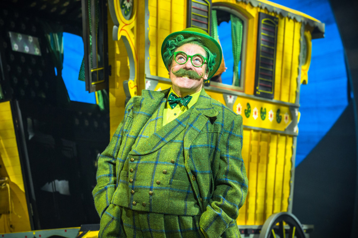 Rufus Hound as Mr Toad in The Wind In The Willows (Photo: Marc Brenner Jamie Hendry Productions)