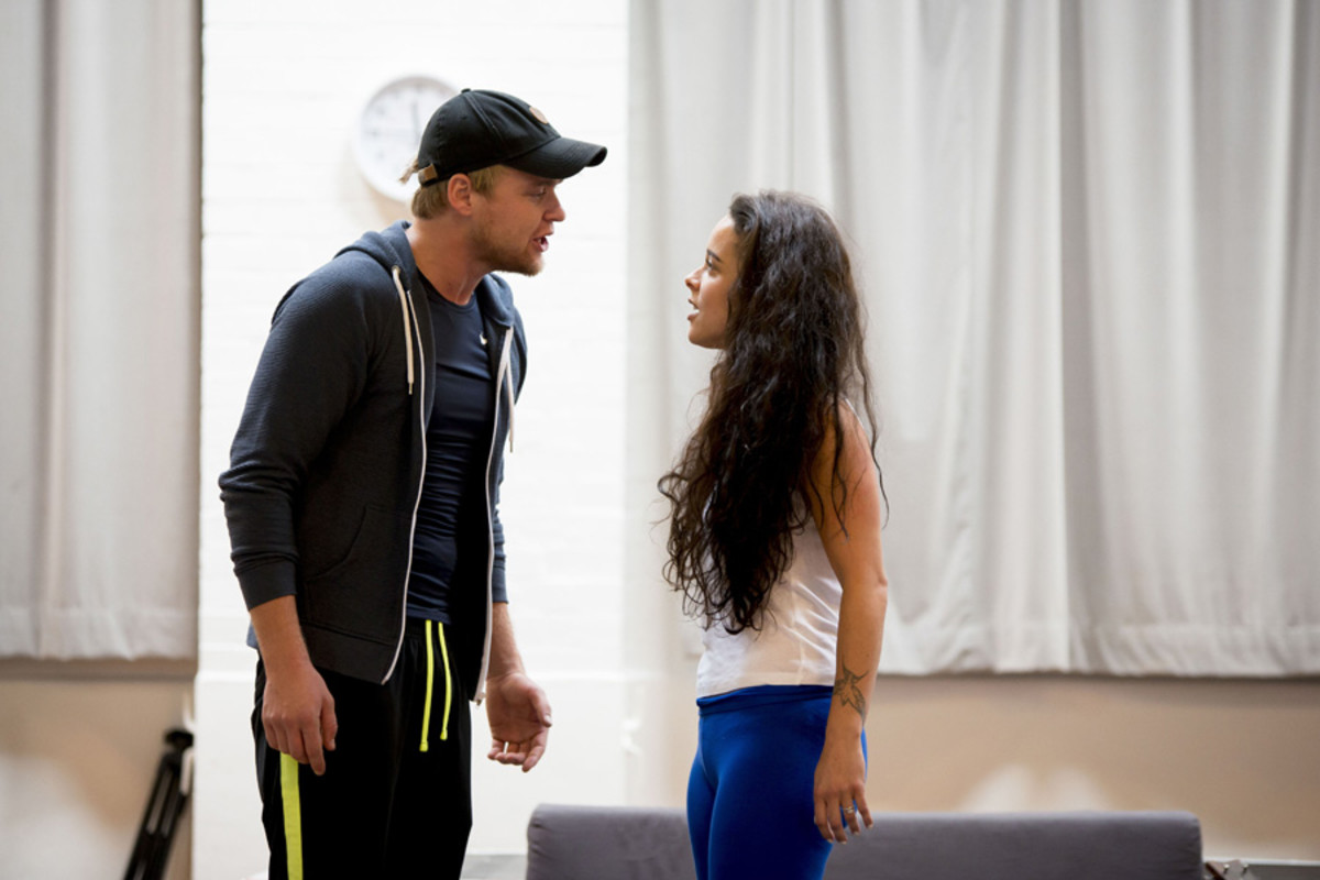 Ross Hunter and Philippa Stefani in rehearsals for Rent (Photo: Matt Crockett)