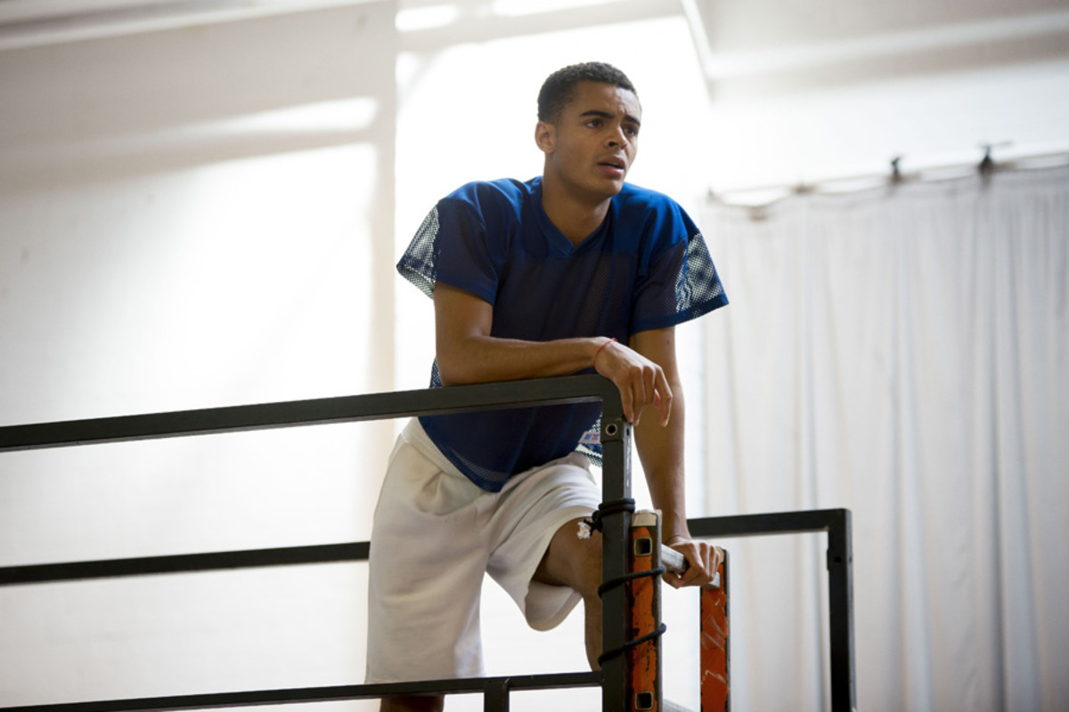 Layton Williams in rehearsals for Rent (Photo: Matt Crockett)