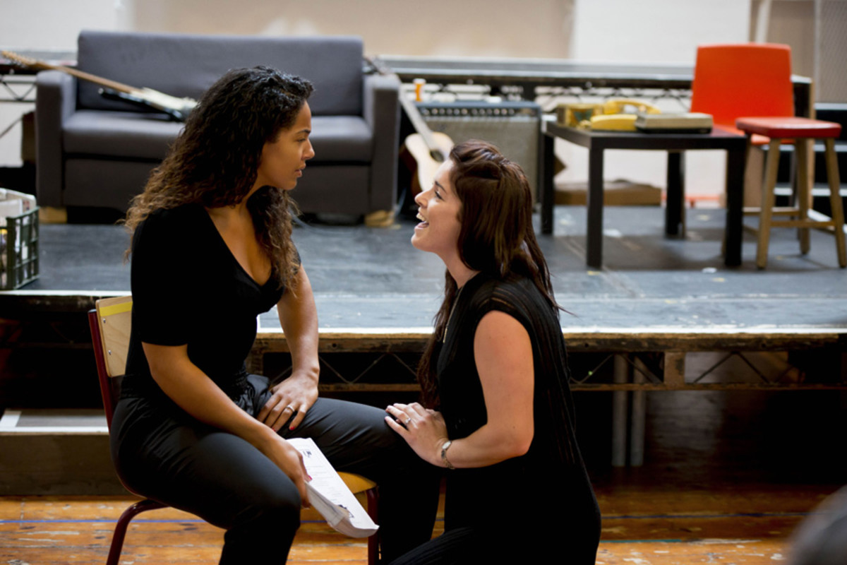 Shanay Holmes and Lucie Jones in rehearsals for Rent (Photo: Matt Crockett)