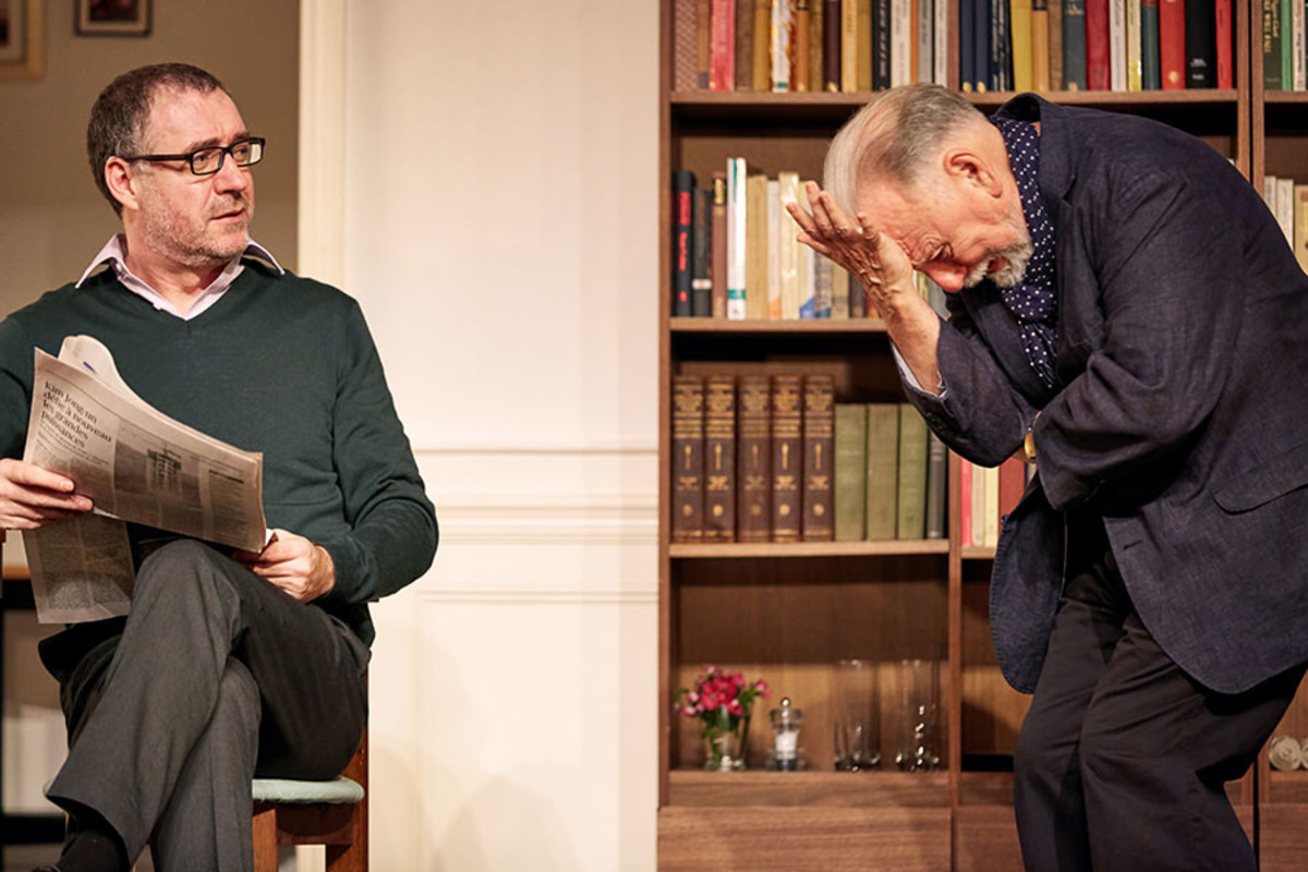 Brian Doherty and Kenneth Cranham in The Father, playing at the Duke of York's Theatre (Photo: Mark Douet)