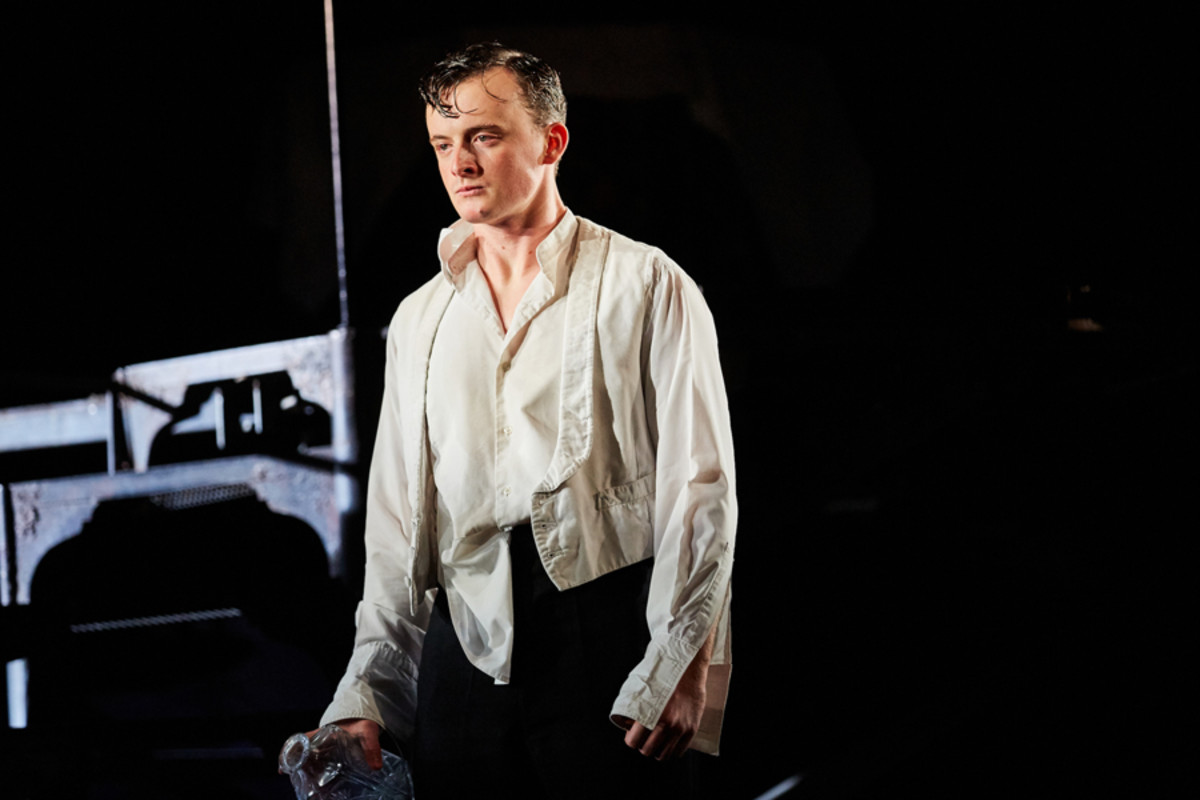 Hamish Riddle in An Inspector Calls at the Playhouse Theatre (Photo by Mark Douet)