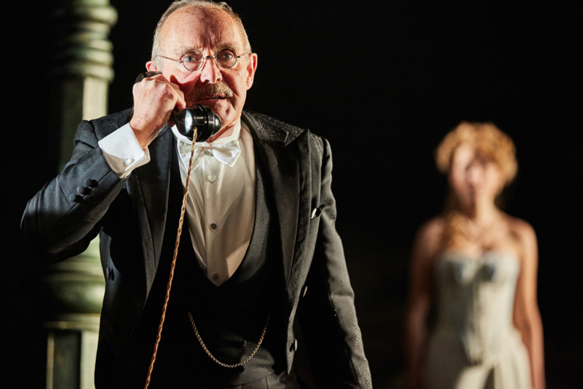 Clive Francis in An Inspector Calls at the Playhouse Theatre (Photo by Mark Douet)