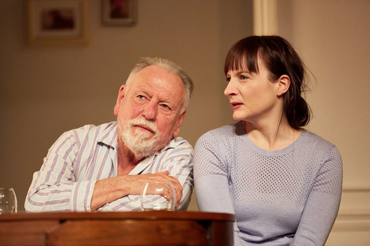 Kenneth Cranham and Jade Williams in The Father, playing at the Duke of York's Theatre (Photo: Mark Douet)