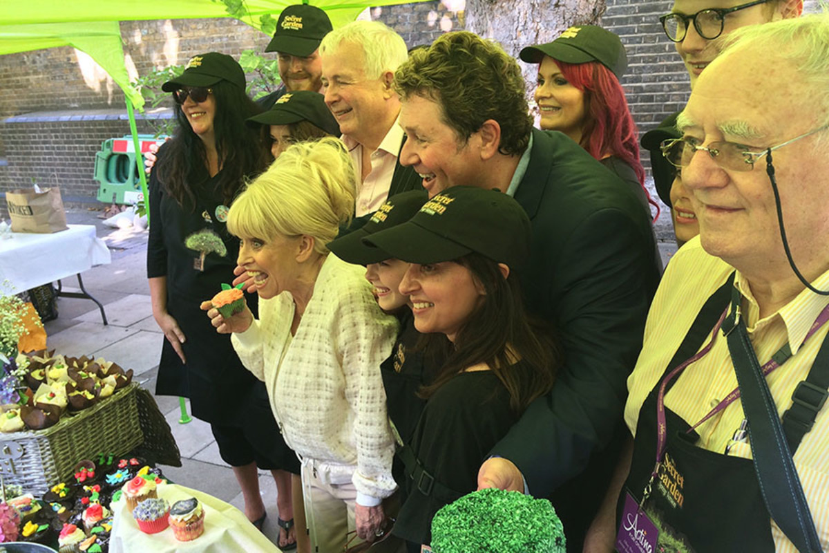 The Secret Garden with judges Barbara Windsor, Christopher Biggins and Michael Ball (Photo: Rosie Robinson)