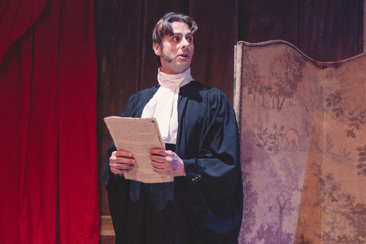 Simon Blake in The Knight From Nowhere, playing at the Park Theatre (Photo: Katie Cotterell)