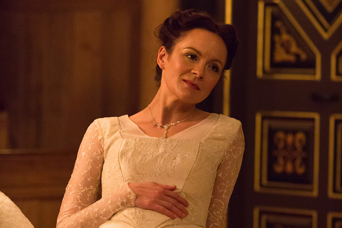 Rachael Stirling in The Winter's Tale at the Sam Wanamaker Playhouse (Photo: Marc Brenner)