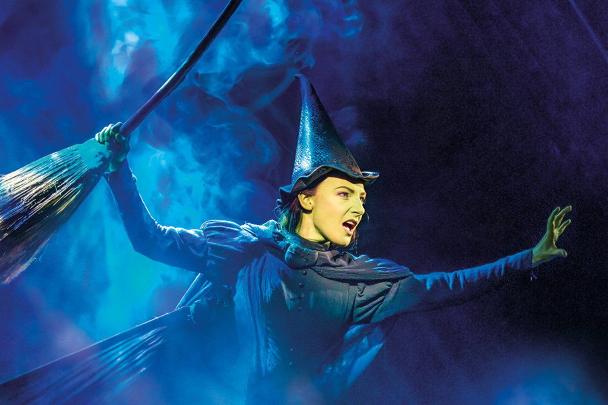 Willemijn Verkaik as Elphaba in Wicked (Photo: Matt Crockett)