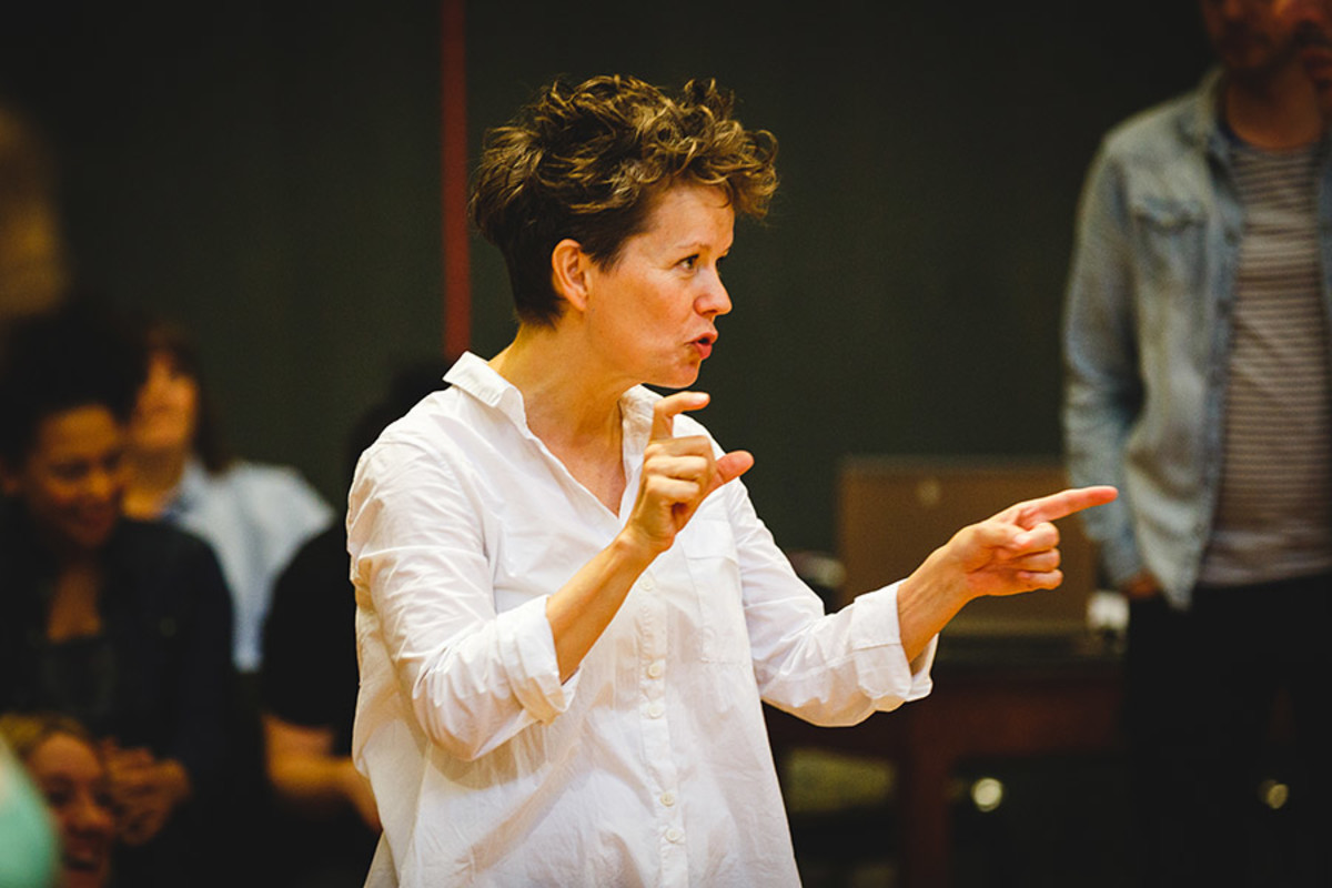 Sally Cookson (Director) in rehearsals for Peter Pan (Photo Steve Tanner)